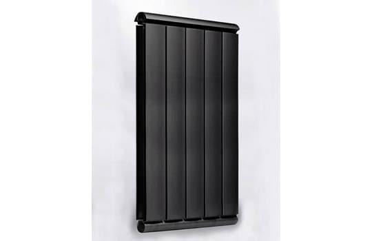 Алюминиевый Дизайн радиатор SILVER S 1000 черный шёлк