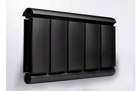 Алюминиевый Дизайн радиатор SILVER S 200 черный шёлк