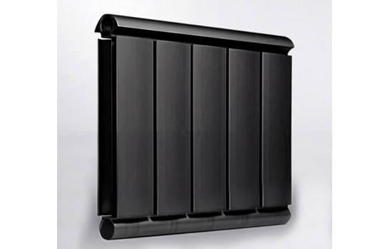 Алюминиевый Дизайн радиатор SILVER S 400 черный шёлк
