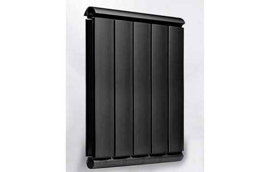 Алюминиевый Дизайн радиатор SILVER S 750 черный шёлк