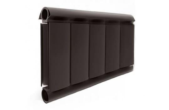 Алюминиевый Дизайн радиатор SILVER S 200 шоколадный муар