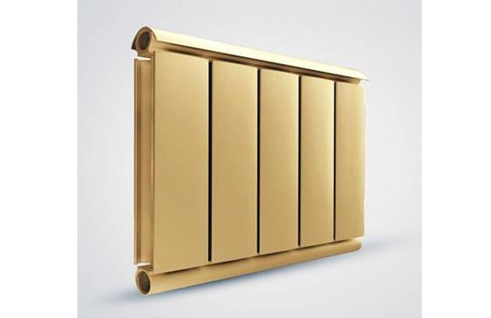 Алюминиевый Дизайн радиатор SILVER S 400 золото муар