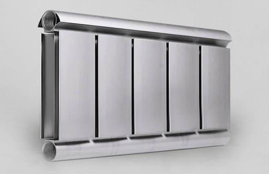Алюминиевый Дизайн радиатор SILVER S 200 темное серебро муар