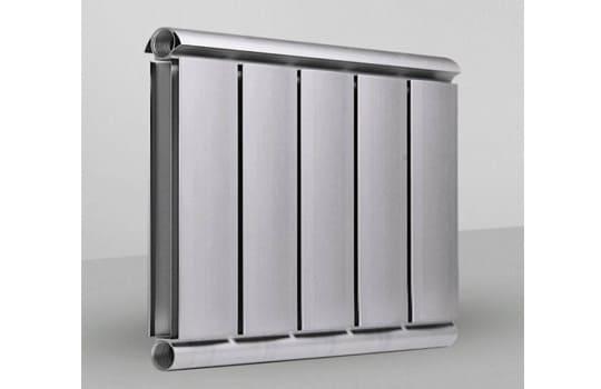 Алюминиевый Дизайн радиатор SILVER S 400 темное серебро муар