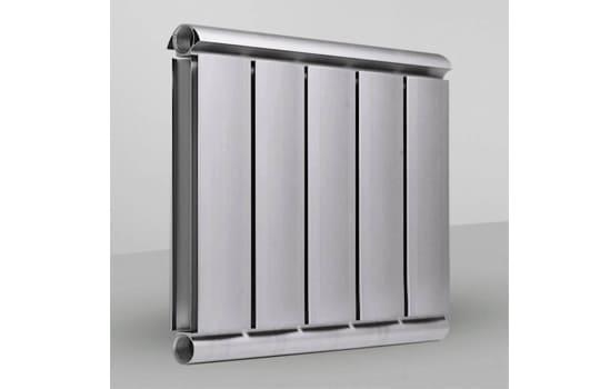 Алюминиевый Дизайн радиатор SILVER S 500 темное серебро муар